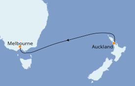 Itinerario de crucero Australia 2019 5 días a bordo del Golden Princess