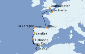 Itinerario de crucero Mediterráneo 12 días a bordo del Celebrity Silhouette