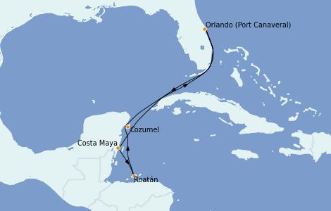 Itinerario del crucero Caribe del Oeste 6 días a bordo del Jewel of the Seas