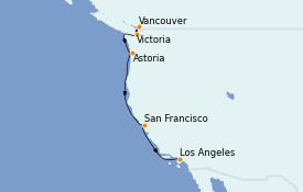 Itinerario de crucero California 8 días a bordo del Serenade of the Seas