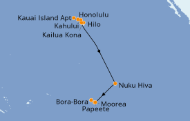 Itinerario de crucero Hawaii 15 días a bordo del Norwegian Jewel