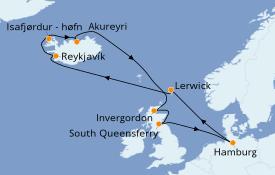 Itinerario de crucero Exploración polar 13 días a bordo del MSC Preziosa