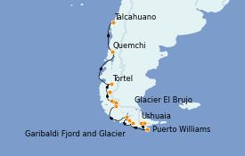 Itinerario de crucero Norteamérica 14 días a bordo del Le Boréal