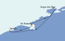 Itinerario de crucero Suramérica 4 días a bordo del Costa Favolosa