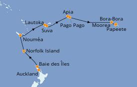 Itinerario de crucero Australia 2020 16 días a bordo del Seven Seas Navigator
