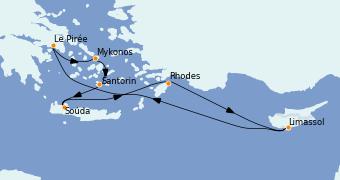 Itinerario de crucero Grecia y Adriático 8 días a bordo del Jewel of the Seas