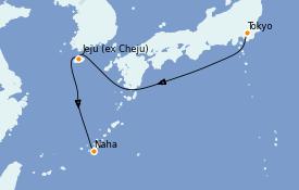 Itinerario de crucero Asia 5 días a bordo del