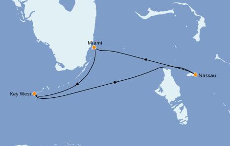 Itinerario del crucero Caribe del Este 3 días a bordo del Norwegian Sky