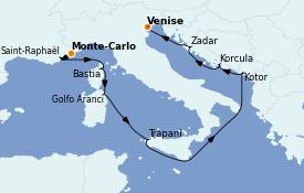 Itinerario de crucero Mediterráneo 11 días a bordo del Seabourn Quest