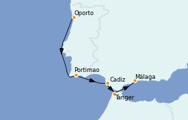 Itinerario de crucero Islas Canarias 6 días a bordo del Royal Clipper