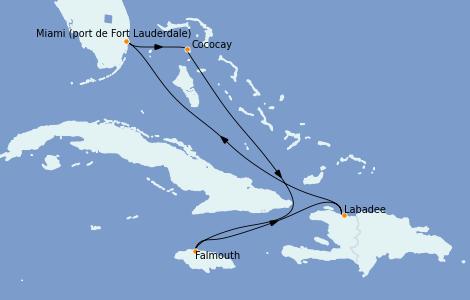 Itinerario del crucero Bahamas 6 días a bordo del Odyssey of the Seas