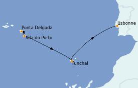 Itinerario de crucero Islas Canarias 8 días a bordo del Le Champlain
