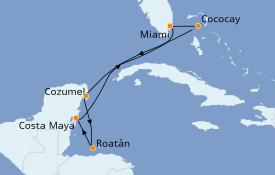 Itinerario de crucero Caribe del Oeste 8 días a bordo del Symphony of the Seas