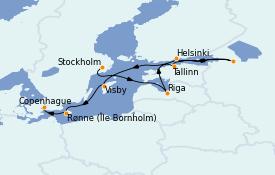 Itinerario de crucero Mar Báltico 11 días a bordo del Voyager of the Seas