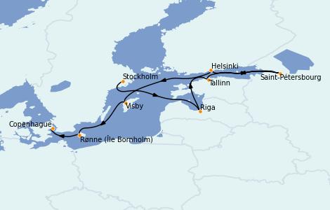 Itinerario del crucero Mar Báltico 10 días a bordo del Voyager of the Seas
