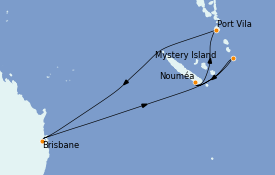 Itinerario de crucero Australia 2023 9 días a bordo del Quantum of the Seas