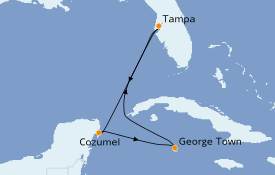 Itinerario de crucero Caribe del Oeste 6 días a bordo del Brilliance of the Seas
