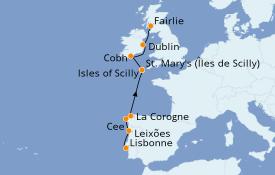 Itinerario de crucero Islas Británicas 8 días a bordo del Le Dumont d'Urville
