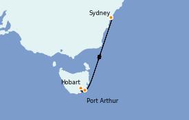 Itinerario de crucero Australia 2021 7 días a bordo del Sapphire Princess