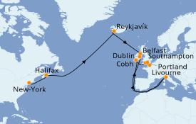 Itinerario de crucero Islas Británicas 17 días a bordo del Norwegian Star