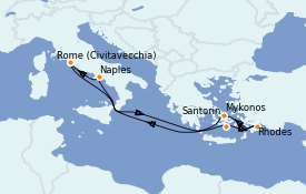 Itinerario de crucero Mediterráneo 8 días a bordo del Celebrity Edge