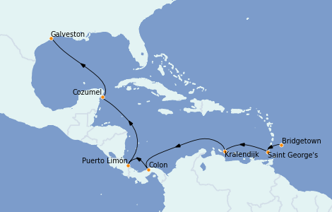 Itinerario del crucero Caribe del Este 10 días a bordo del Grandeur of the Seas