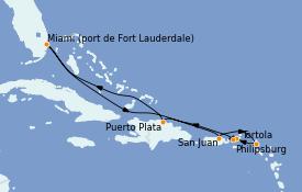 Itinerario de crucero Caribe del Este 9 días a bordo del Celebrity Edge