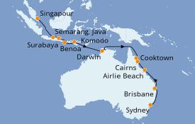 Itinerario de crucero Australia 2020 18 días a bordo del Seven Seas Explorer