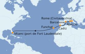 Itinerario de crucero Mediterráneo 15 días a bordo del Island Princess
