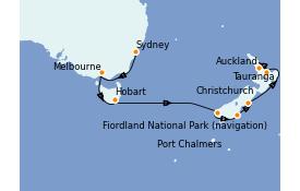 Itinerario de crucero Australia 2021 13 días a bordo del Royal Princess