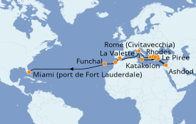 Itinerario de crucero Grecia y Adriático 29 días a bordo del Island Princess