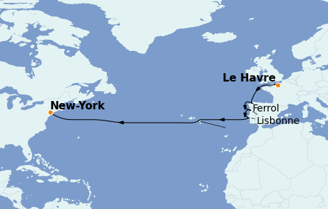 Itinerario del crucero Islas Canarias 14 días a bordo del Insignia