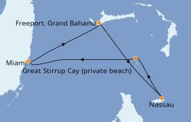 Itinerario de crucero Bahamas 5 días a bordo del Norwegian Pearl