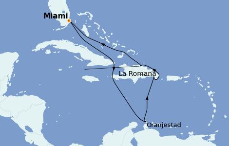 Itinerario del crucero Caribe del Este 8 días a bordo del Carnival Freedom