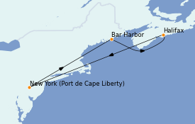 Itinerario de crucero Canadá 6 días a bordo del Adventure of the Seas