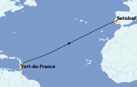 Itinerario de crucero Caribe del Este 15 días a bordo del Le Dumont d'Urville