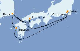 Itinerario de crucero Asia 10 días a bordo del Costa Mediterranea