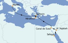 Itinerario de crucero Trasatlántico y Grande Viaje 2022 12 días a bordo del MSC Magnifica