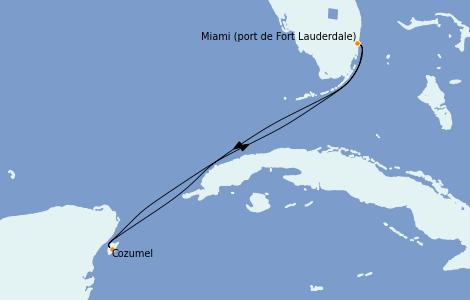 Itinerario del crucero Caribe del Oeste 4 días a bordo del Celebrity Millenium