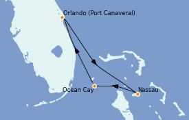 Itinerario de crucero Bahamas 4 días a bordo del MSC Meraviglia