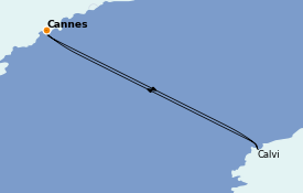 Itinerario de crucero Mediterráneo 4 días a bordo del Royal Clipper