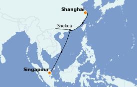 Itinerario de crucero Trasatlántico y Grande Viaje 2022 11 días a bordo del MSC Virtuosa