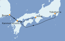 Itinerario de crucero Asia 5 días a bordo del Diamond Princess
