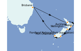 Itinerario de crucero Australia 2021 15 días a bordo del Coral Princess