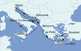 Itinerario de crucero Grecia y Adriático 11 días a bordo del MS Marina