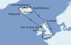 Itinerario de crucero Islas Británicas 13 días a bordo del Carnival Legend