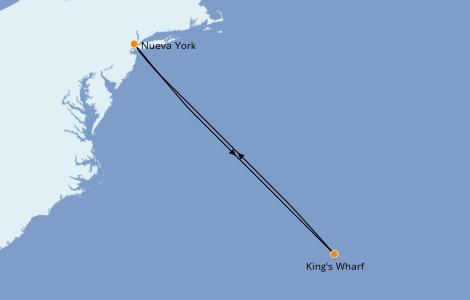 Itinerario del crucero Canadá 4 días a bordo del Norwegian Joy
