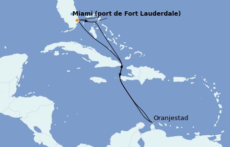 Itinerario del crucero Caribe del Este 8 días a bordo del Odyssey of the Seas
