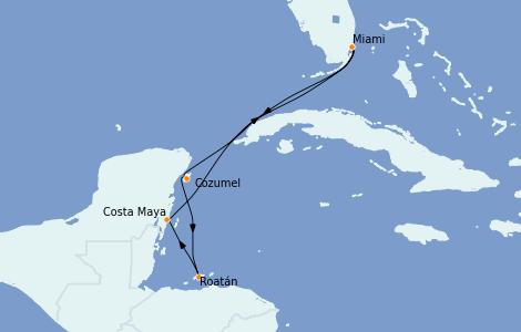 Itinerario del crucero Caribe del Oeste 6 días a bordo del Carnival Celebration