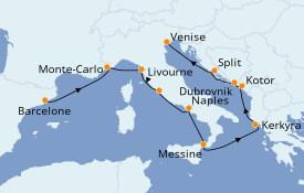 Itinerario de crucero Trasatlántico y Grande Viaje 2022 11 días a bordo del Norwegian Star